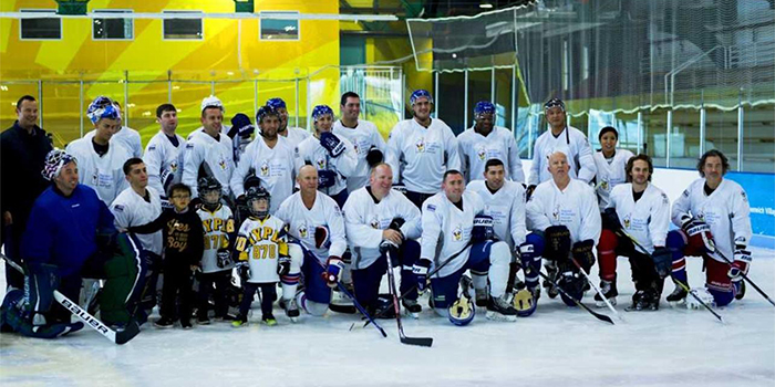 hockey group white
