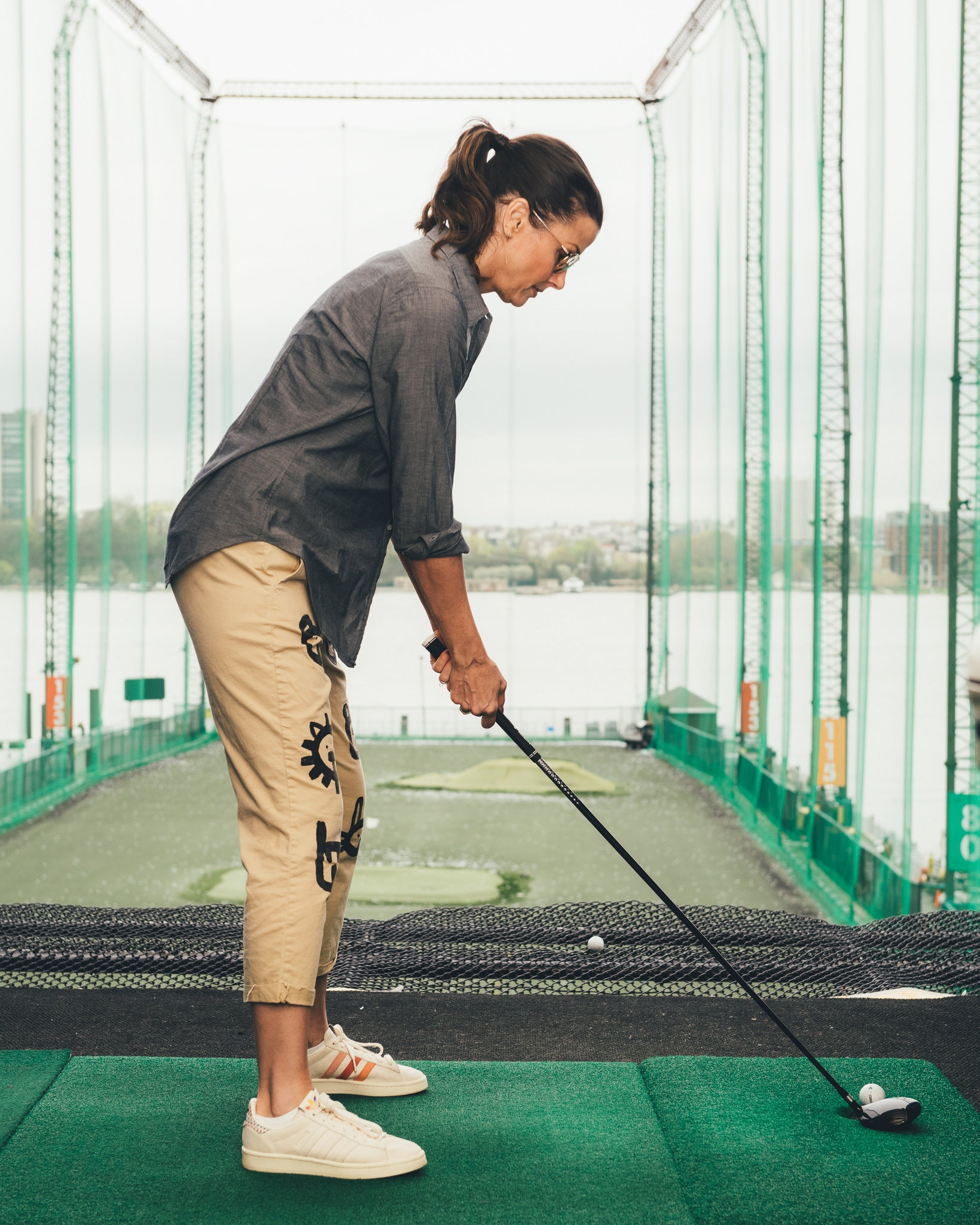A Golf Lesson with Bridget Moynahan