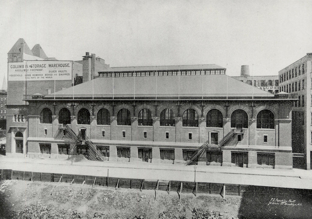 St. Nicholas Arena, the original home of the hockey club, in 1897, a year after it opened at 66th Street and Columbus Avenue in Manhattan.