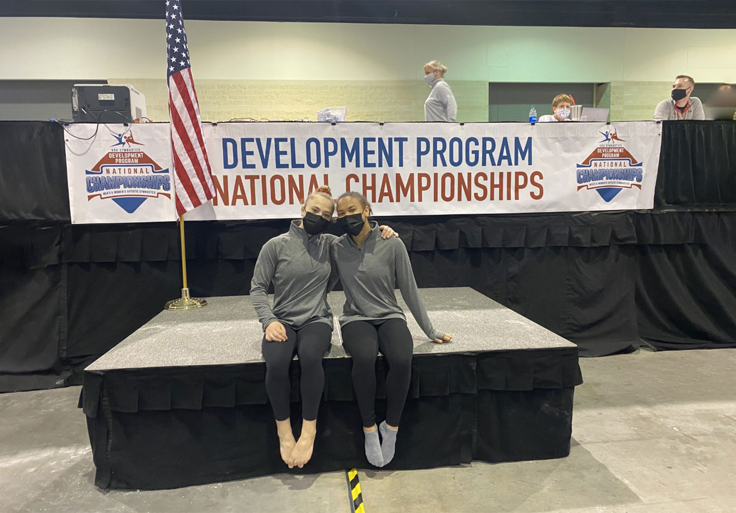 Addy and Liza at Nationals.
