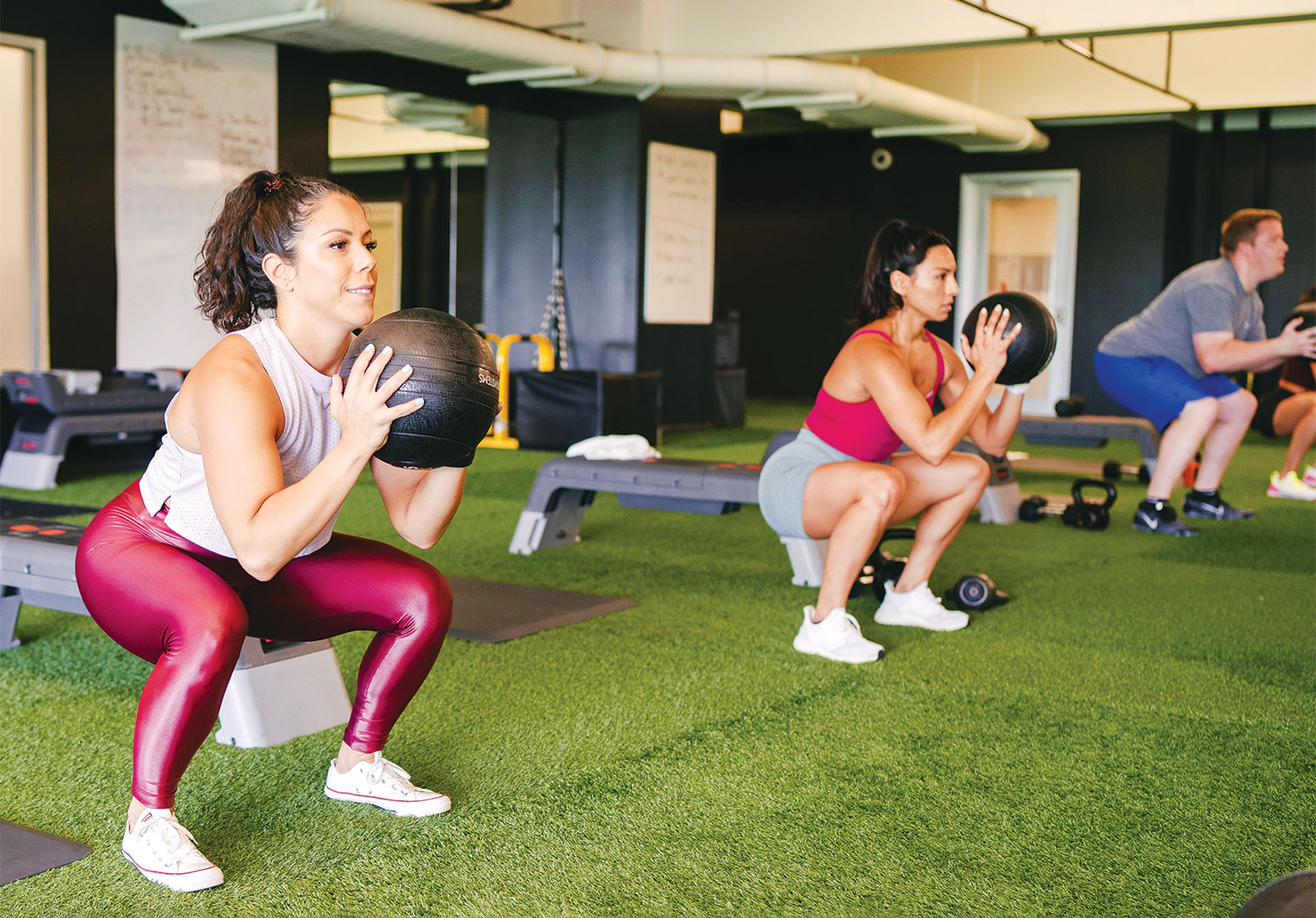 Chelsea Piers Members taking a Group Fitness Class
