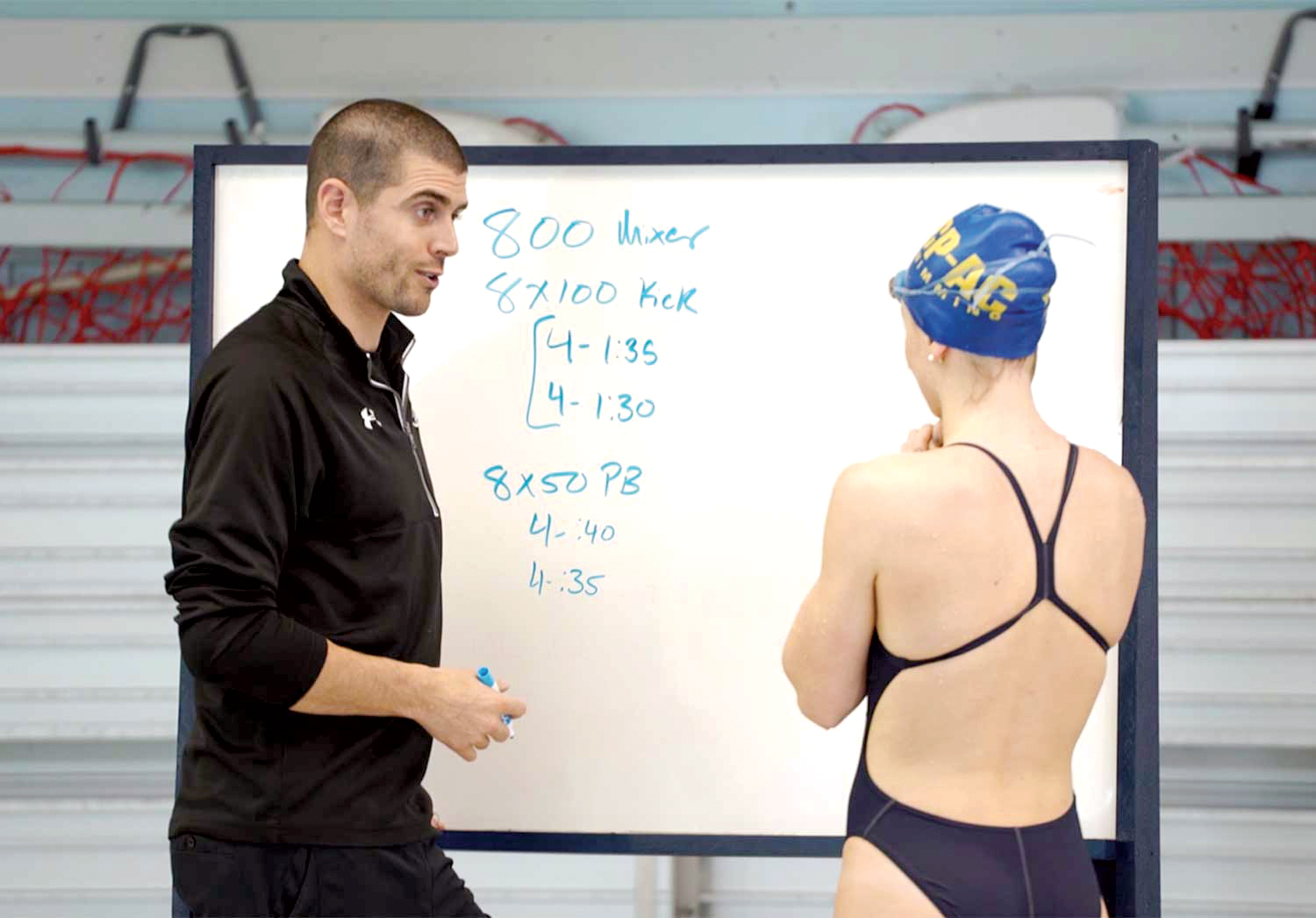 Coaching a Swimmer Through a Training Session