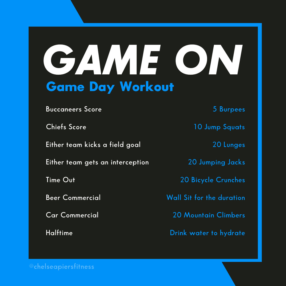Game Day Workout List